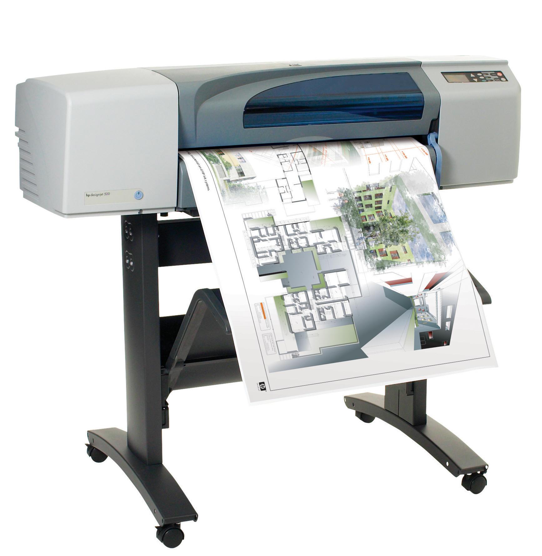 vendita noleggio stampa grande plotter hp designjet 500
