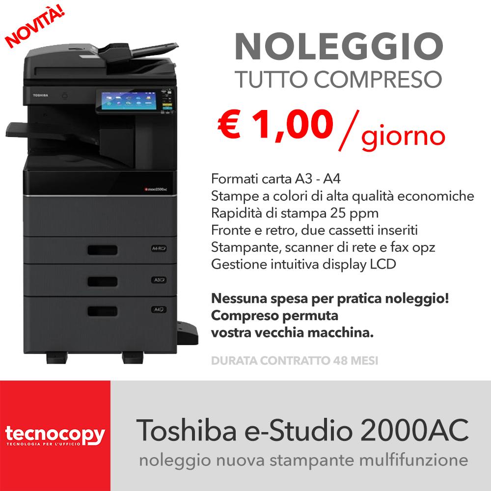 promozione noleggio stampante multifunzione toshiba estudio 2000AC