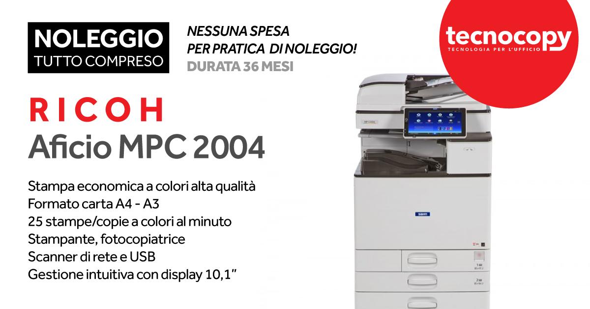 stampante multifunzione fotocopiatrice scanner RICOH MPC 2004 promo