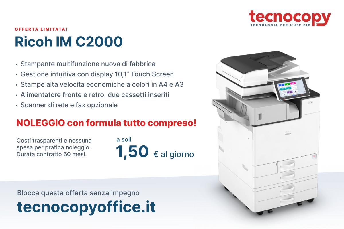 Offerta stampante multifuzione RICOH IM C2000